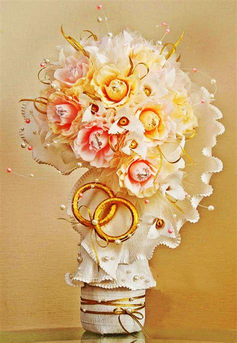 paper flower bridal bouquet tutorial how to make a diy ferrero rocher chocolate flower bouquet