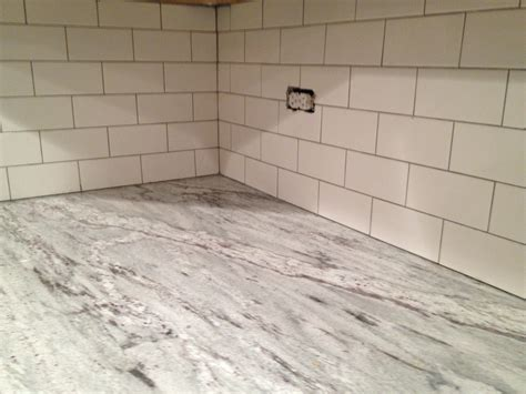 grout tile backsplash white subway tile backsplash done keeps on ringing
