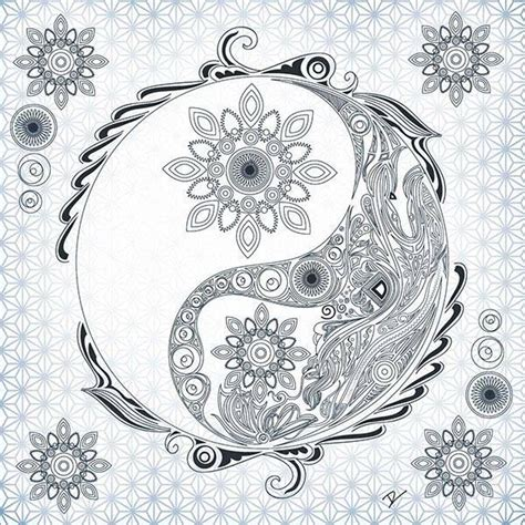 trippy yin yang coloring pages 93 best images about yin yang on pinterest yoga pictures