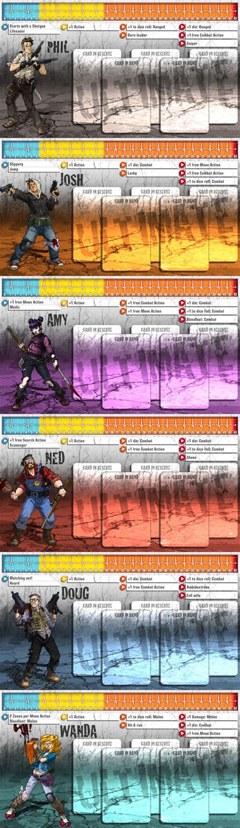 zombicide character card template zombicide season 3 the ultimate survivors 1 zombicide