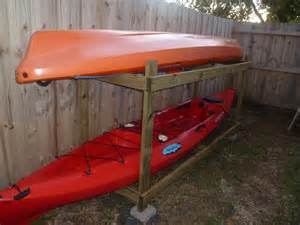 build outdoor kayak rack kayak rack home