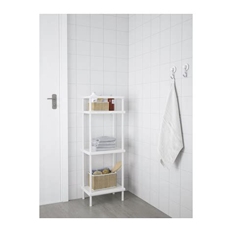 ikea towel storage dynan shelf unit with towel rail white 40x27x108 cm ikea