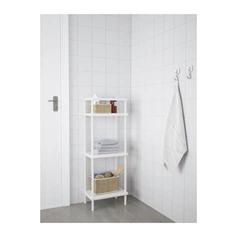 dynan shelf unit with towel rail white 40x27x108 cm ikea