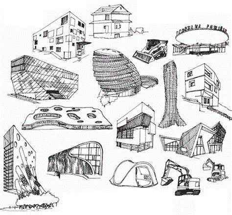 futuristic building sketch www imgarcade image arcade