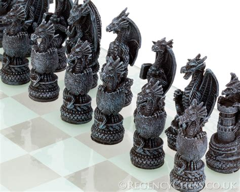 dragon chess set dragon chess set with glass board nem5427 163 57 34