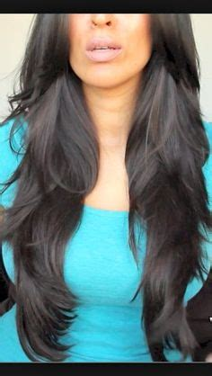long hair styles with ears cut out long layered haircuts back view v cut layers on pinterest