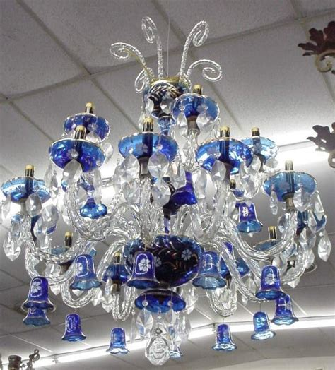 Cobalt Blue Chandelier Cobalt Blue Glass Chandelier I Only For Blue Pi