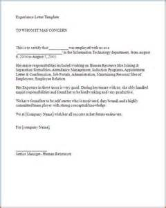 Application Letter For Job Experience Experience Letter Format Application For Issuance Of