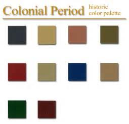 colonial colors historic color palette colonial style artsparx color