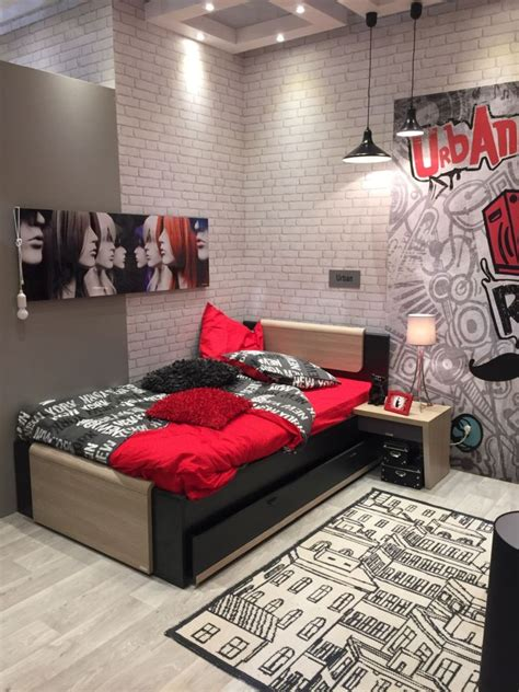 red and black teenage bedroom fun and playful furniture ideas for kids bedrooms