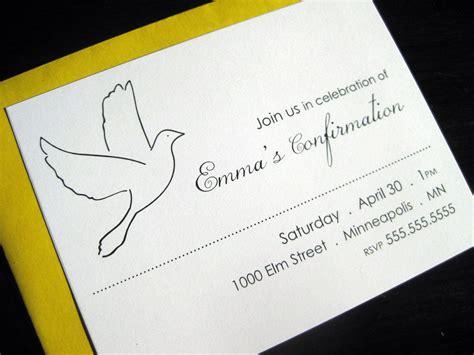 confirmation invites templates confirmation invitations confirmation invites with dove