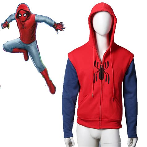spider man homecoming cotton zipper hoodie comicstoy