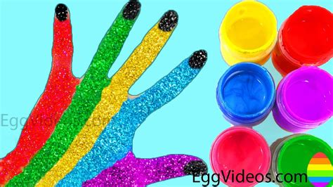 color finger learn colors for children paint finger family song