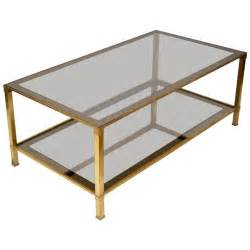 Brass Glass Coffee Table Brass And Smoked Glass Coffee Table At 1stdibs