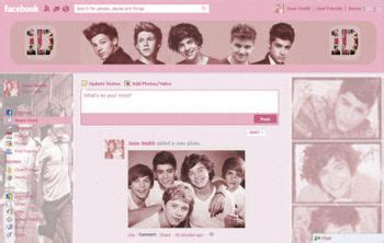 facebook themes one direction pink one direction facebook themes and skins for