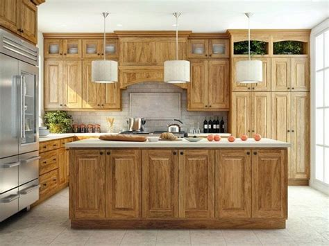 hickory kitchen island awesome hickory kitchen cabinets kitchen island pendant