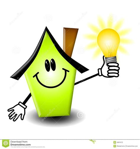 home energy lightbulb stock photography image