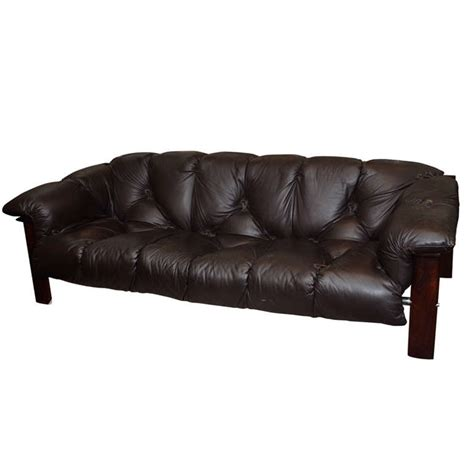 Century Leather Sofa Mid Century Leather Sofa By Percival Lafer At 1stdibs