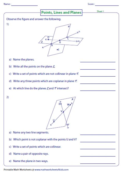 Galerry free printable plane figures worksheets
