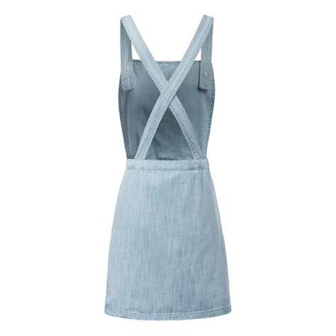 Blue Casual Denim Dress Sml 42911 2015 womens casual blue denim jumper dress