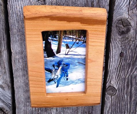 Handmade Wood Frames - rustic photo frame blue handmade picture frame 4 x 6