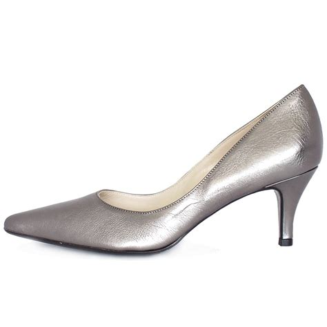 Silver Shoes by Silver Mid Heel Shoes Qu Heel