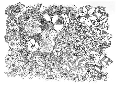 free doodle flowers flower doodle coloring pages free coloring pages of