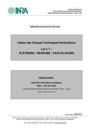 Cctp Faux Plafond by Modele Doe Peinture Document Pdf