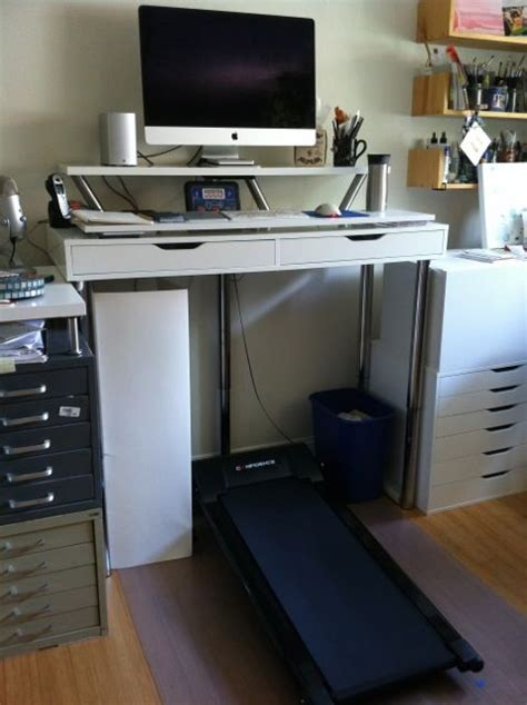 Ikea Hack Standing Desk Ikea Hack Treadmill Desk Made Ikea Lack Standing Desk