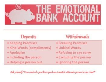 emotional bank account by amy howson teachers pay teachers