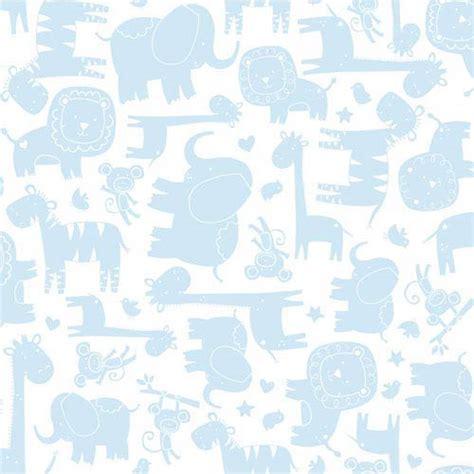 york wallcoverings room  grow white  light blue baby