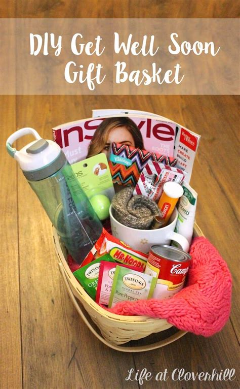 diy get well soon gift basket for friends and family who