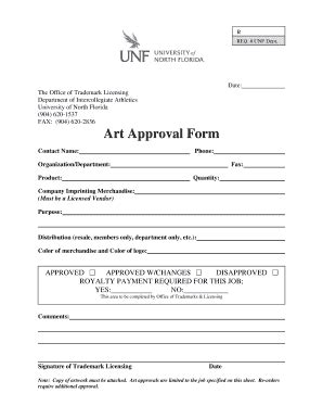 approval template image gallery licensing artwork approval form