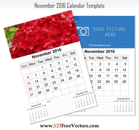 2016 Wall Calendars Wall Calendar November 2016 Free Vector