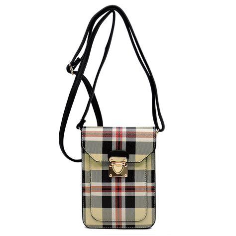 Plaid Crossbody Bag plaid check cell phone crossbody bag cross
