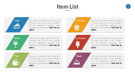 powerpoint template list image collections powerpoint