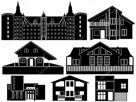 house silhouettes stock vector  dece
