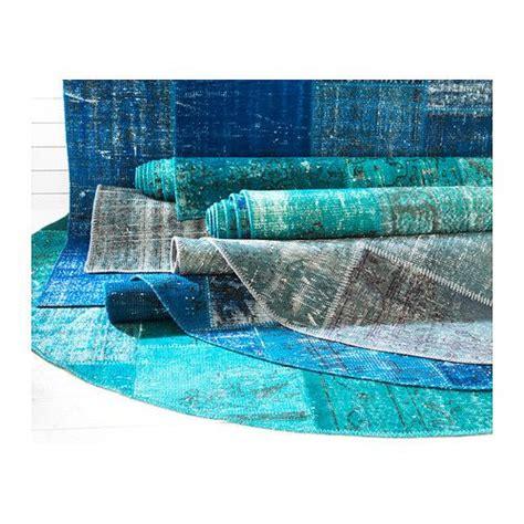 ikea turkish rug silkeborg rug low pile blue traditional green and handmade