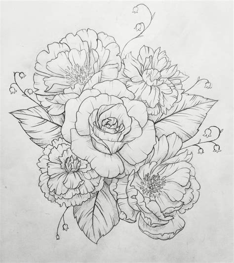 gallery flower drawings for tattoos drawing art gallery