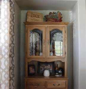 Dining Room Corner Hutch What Isn T Hard Is Decorating The China Cabinet For The