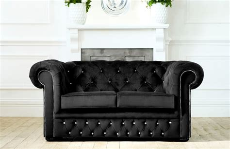 Chesterfield Sofa Bed Uk Diamante Velvet Sofa Bed Fabric Sofa Beds