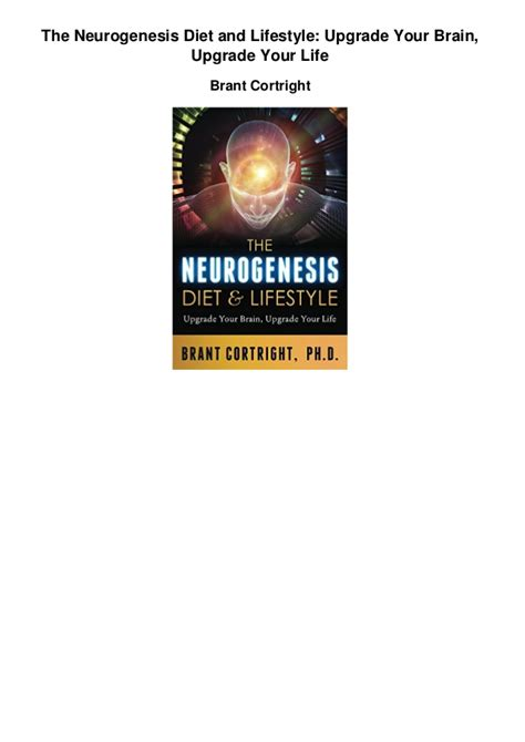 genesis diet the neurogenesis diet and lifestyle upgrade your brain