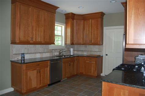 natural cherry kitchen cabinets custom handcrafted natural cherry shaker style