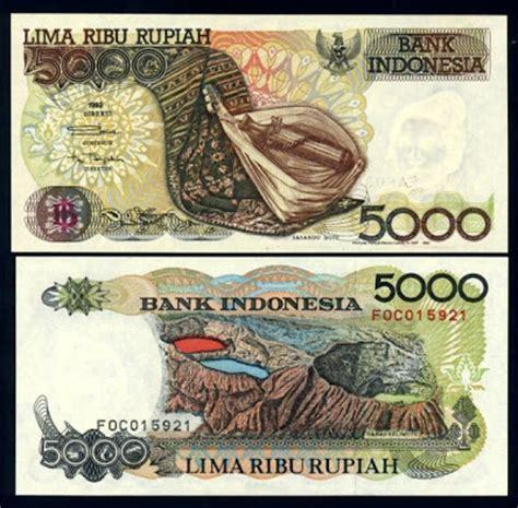 Uang Kuno 1000 Rupiah Tahun 1992 1998 Series 5 uang kuno 1992 1999