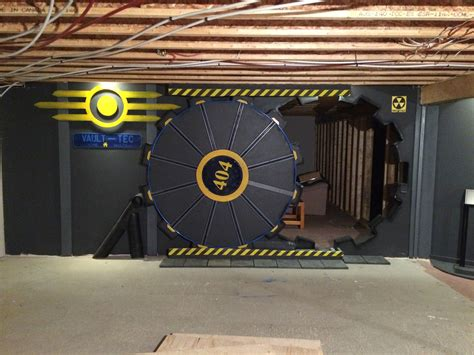 fallout themed room this built a fallout vault door for his basement gaming room