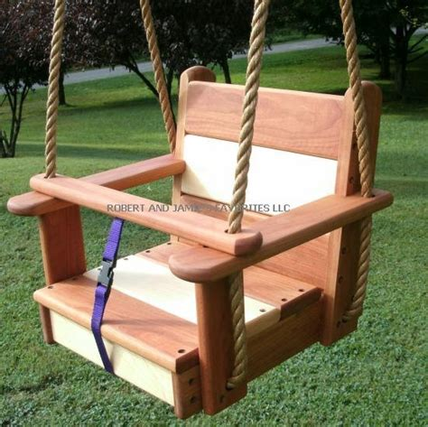 tree swing seat wood tree swings cherry maple kids seat
