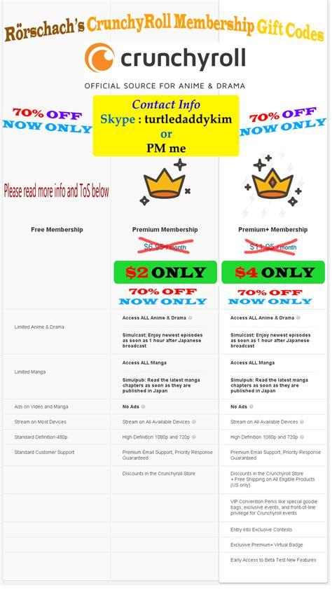 crunchyroll membership crunchyroll premium premium codes cheap 70