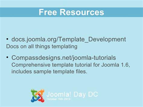 joomla tutorial for developers developing joomla 1 6 templates