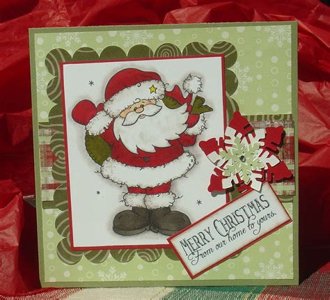 Merry Cards Handmade - santa merry handmade sted handcolored