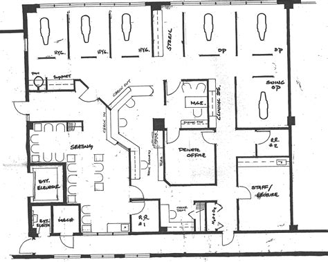 office design floor plans exit for patients after treatment new dental office office floor